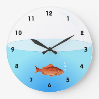 Goldfish Bowl Wall Clock with numbers
