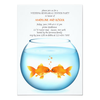 Goldfish Bowl Wedding Rehearsal Dinner Invitation
