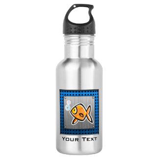 Goldfish; Brushed metal-look 18oz Water Bottle