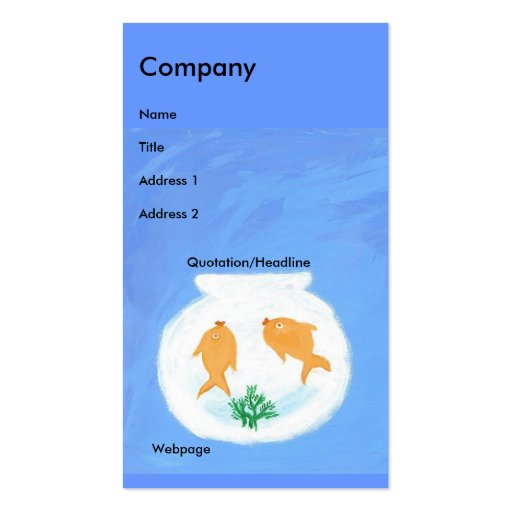 Goldfish/Bubbles Double-Sided Standard Business Cards (Pack Of 100)