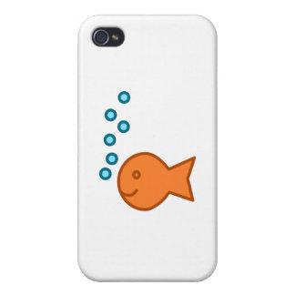 Goldfish Bubbles iPhone 4/4S Case