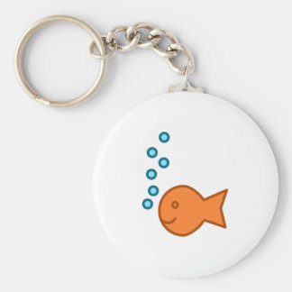 Goldfish Bubbles Keychain