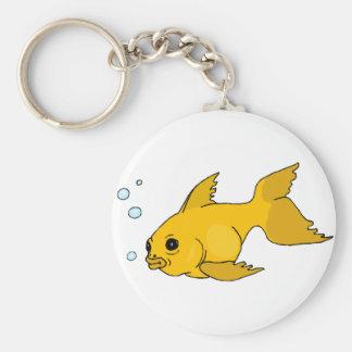 Goldfish burbujeante llavero personalizado