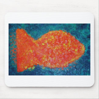 Goldfish by Kaye Talvilahti Mouse Pad