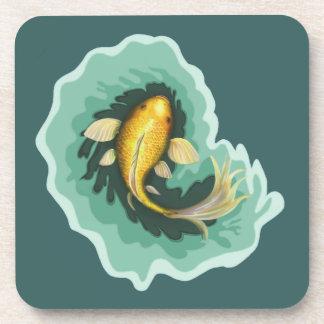 Goldfish Carp Art Drink Coaster