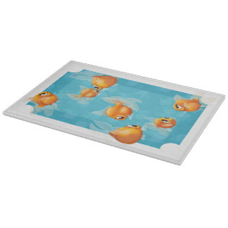 Goldfish chopping board