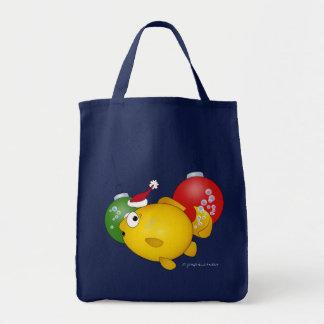 Goldfish Christmas flatus event Tote Bags