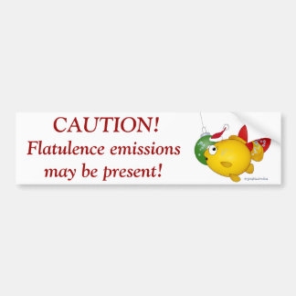 Goldfish Christmas flatus event! Bumper Sticker
