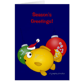 Goldfish Christmas flatus event Greeting Card