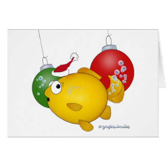 Goldfish Christmas flatus event Cards