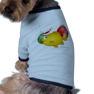Goldfish Christmas flatus event Pet Tee Shirt