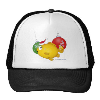 Goldfish Christmas flatus event Mesh Hats