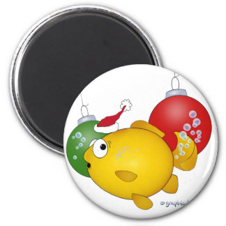 Goldfish Christmas flatus event Magnet