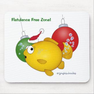 Goldfish Christmas flatus event Mousepad