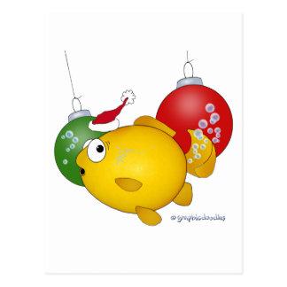 Goldfish Christmas flatus event Postcards
