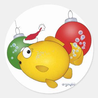 Goldfish Christmas flatus event Stickers