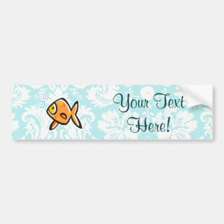 Goldfish; Cute Bumper Sticker