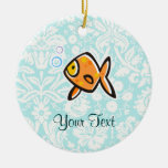 Goldfish; Cute Ceramic Ornament