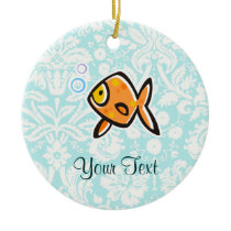 Goldfish; Cute Ceramic Ornament