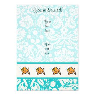 Goldfish Cute Custom Invitations