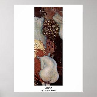 Goldfish de Gustavo Klimt Poster