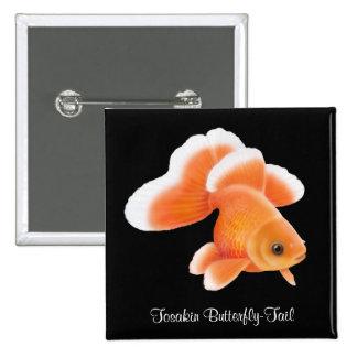 Goldfish de la cola de la mariposa de Tosakin Pins