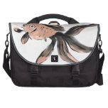 Goldfish de la cola de milano de Fanny, Sumi-e Bolsas Para Ordenador