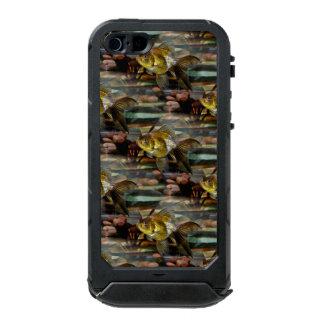 Goldfish de lujo de la cola de milano carcasa de iphone 5 incipio atlas id