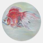 Goldfish de Ryukin Etiquetas Redondas