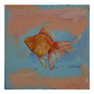 Goldfish de Ryukin Poster