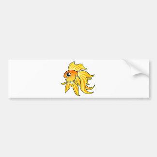 Goldfish del dibujo animado etiqueta de parachoque