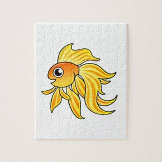 Goldfish del dibujo animado puzzles con fotos