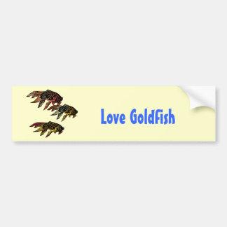 Goldfish del grabar en madera pegatina para auto