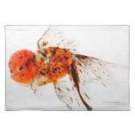 Goldfish del lionhead del calicó (auratus del Cara Manteles Individuales