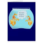 Goldfish dos en un tanque tarjetas