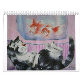 goldfish dream wall calendar