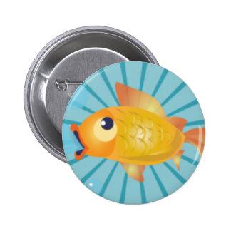 Goldfish en rayas azules pin