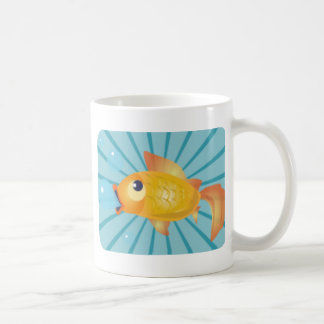 Goldfish en rayas azules tazas