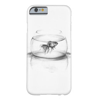 Goldfish en un caso del iPhone 6 del arte del Funda Barely There iPhone 6