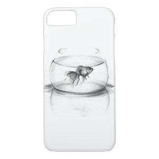 Goldfish en un caso del iPhone 7 del arte del Funda iPhone 7