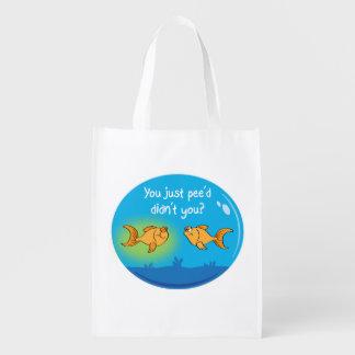 Goldfish enfadado bolsas reutilizables