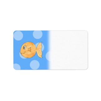 Goldfish. Etiquetas De Dirección