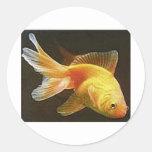 Goldfish Etiquetas Redondas
