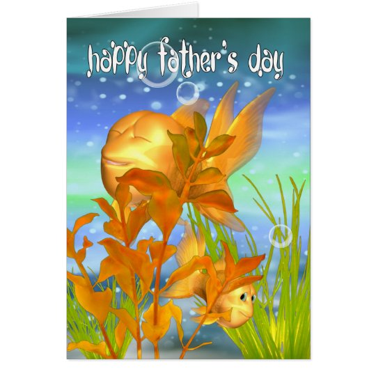 Goldfish Father's Day Card - Goldfish Card For Fat