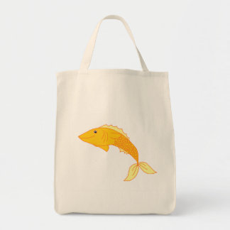 Goldfish feliz bolsa tela para la compra