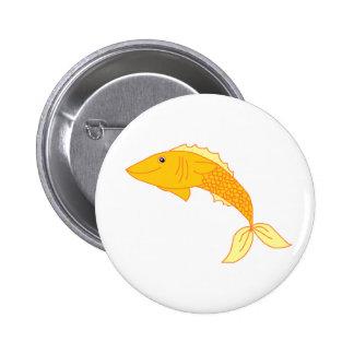 Goldfish feliz pin redondo de 2 pulgadas