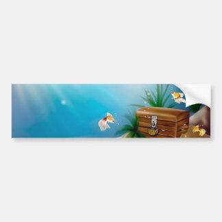 Goldfish Find Treasure in Ocean Bumper Sticker
