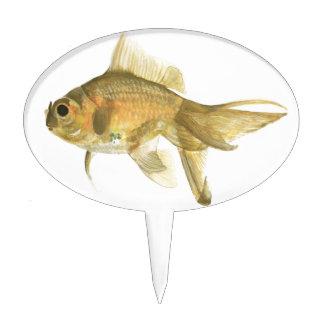 goldfish, fish cake topper