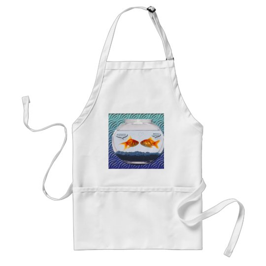 Goldfish fishbowl humor adult apron