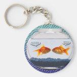 Goldfish fishbowl humor keychain